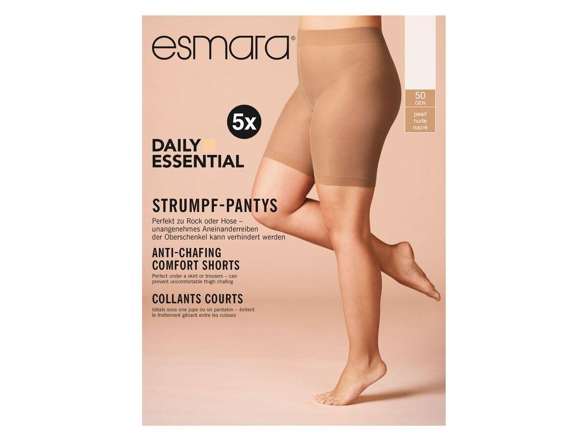 Bild 2 von ESMARA® Strumpf-Panties Damen, 5 Stück, 50 DEN, mit bequemen Komfortbund, mit Elasthan