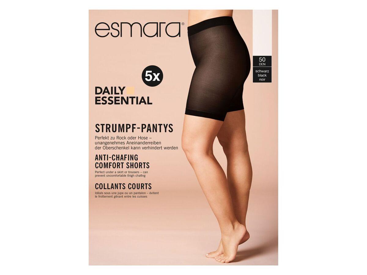 Bild 4 von ESMARA® Strumpf-Panties Damen, 5 Stück, 50 DEN, mit bequemen Komfortbund, mit Elasthan