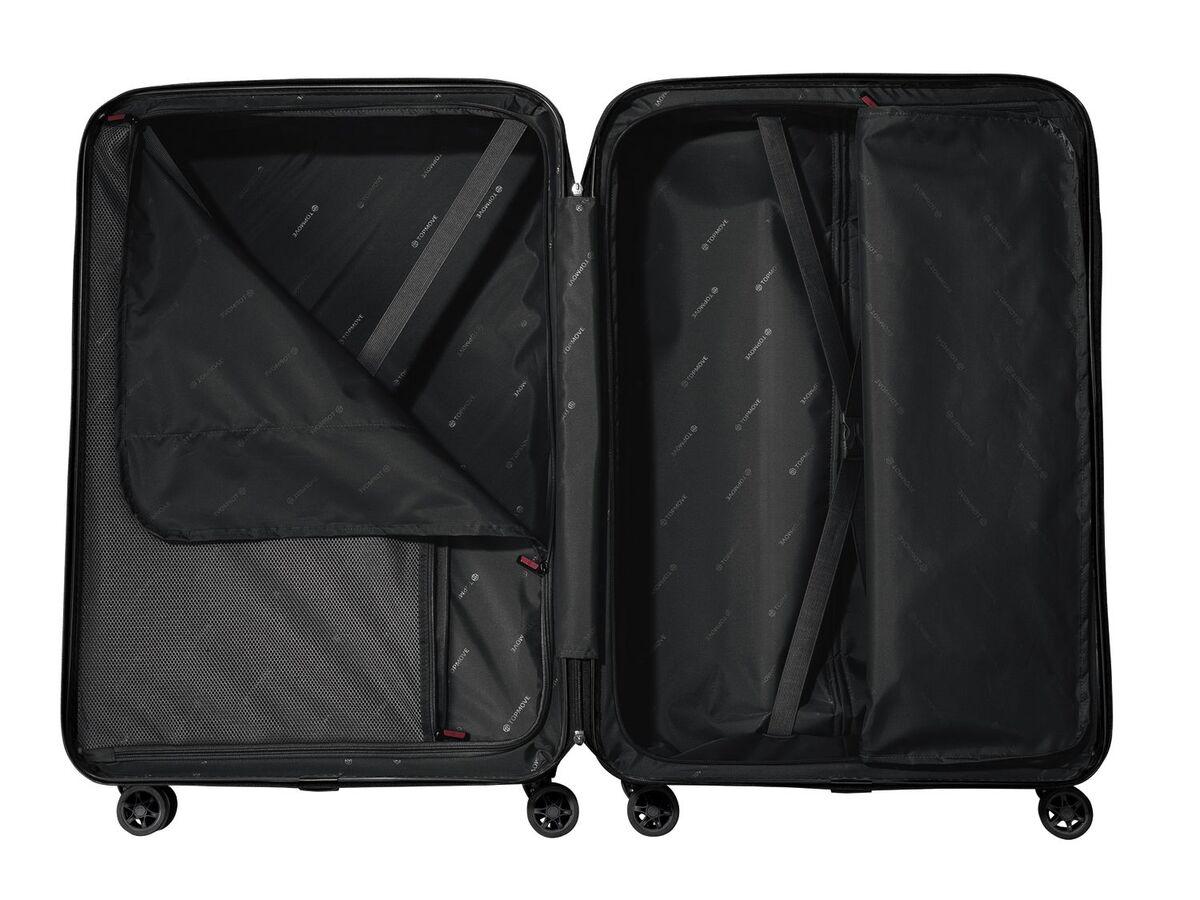 Bild 3 von TOPMOVE® Koffer, 90 l, aus Polycarbonat, 4 Komfort-Zwillingsrollen (360°), sehr leicht
