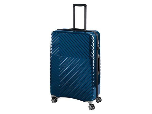 TOPMOVE® Koffer, 90 l, aus Polycarbonat, 4 Komfort-Zwillingsrollen (360°), sehr leicht