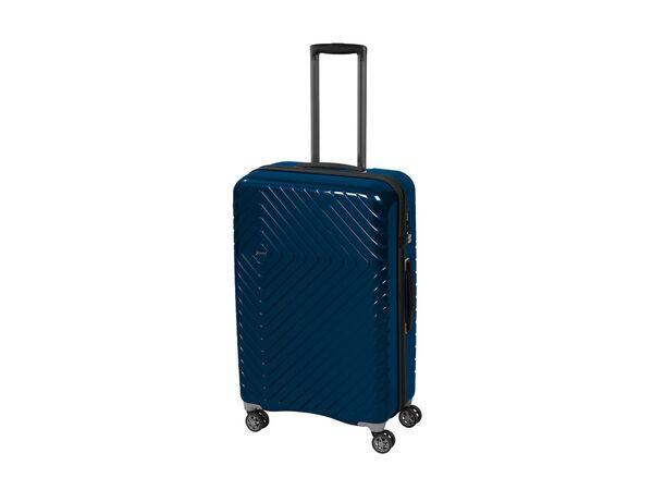 TOPMOVE® Handgepäckkoffer, 72 L Fassungsvermögen, mit 4 Rollen, Polycarbonat-Schalen