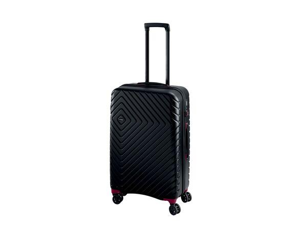 TOPMOVE® Koffer, 61 l Volumen, 4 Rollen, mit Zahlenschloss, schwarz