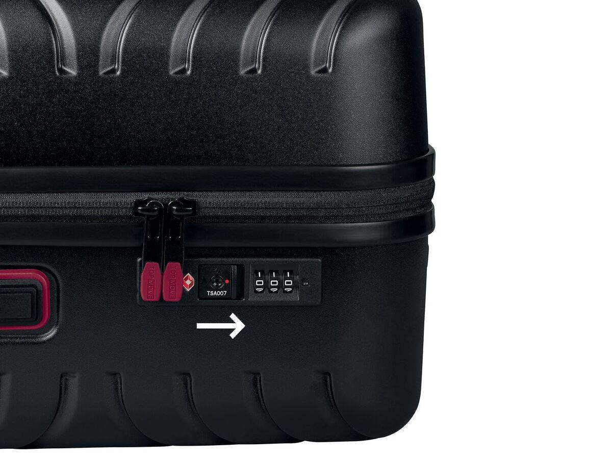 Bild 5 von TOPMOVE® Koffer, 61 l Volumen, 4 Rollen, mit Zahlenschloss, schwarz