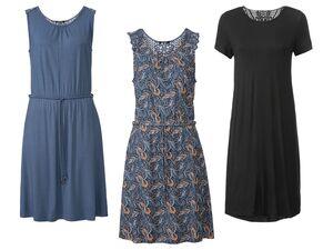ESMARA® Kleid Damen, mit Lochstickerei im Rücken, aus Viskose und Elasthan