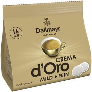 Dallmayr Crema d´Oro mild & fein Kaffeepads 16ST 112G