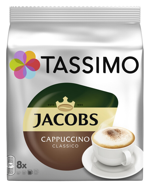 Tassimo Jacobs Cappuccino Classico 8x 32,5 g