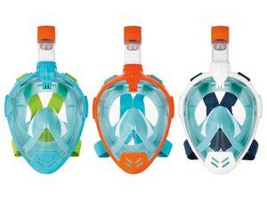 CRIVIT® Schnorchelmaske, mit Kamerahalterung, Total-View-Panoramascheibe, 100% UV-Schutz