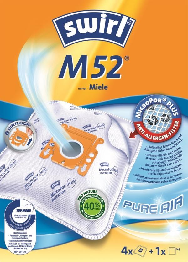 Swirl Staubsaugerbeutel M52 MicroPor Plus Pure Air 4 Stück