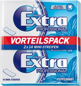 Wrigleys Extra Professional Peppermint Vorteilspack 2x 14 Stk