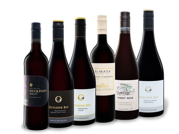 6 x 0,75-l-Flasche Weinpaket Neuseeland Rot