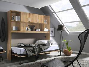 Rauch Bett »ALBERO«, quer klappbar, Front aus 2 Paneelen, mit Regalelement und Lattenrost