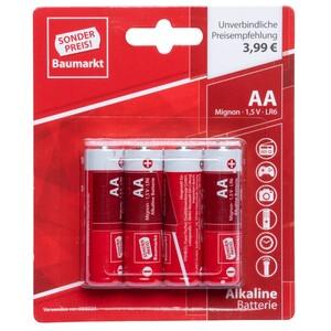 Sonderpreis Baumarkt Batterien LR 6 AA 4 Stück