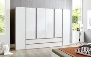 Mondo - Drehtürenschrank Catun in weiß, ca. 300 x 223 x 61 cm