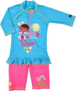 Baby Doc McStuffins Badeanzug mit UV-Schutz  hellblau Gr. 98/104 Mädchen Kleinkinder