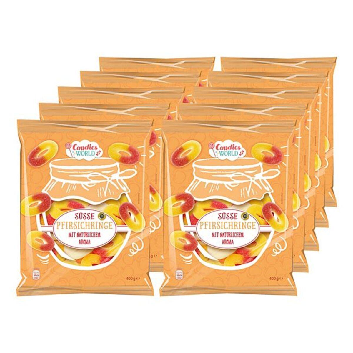 Bild 1 von Candies World süsse Pfirsichringe 400 g, 10er Pack