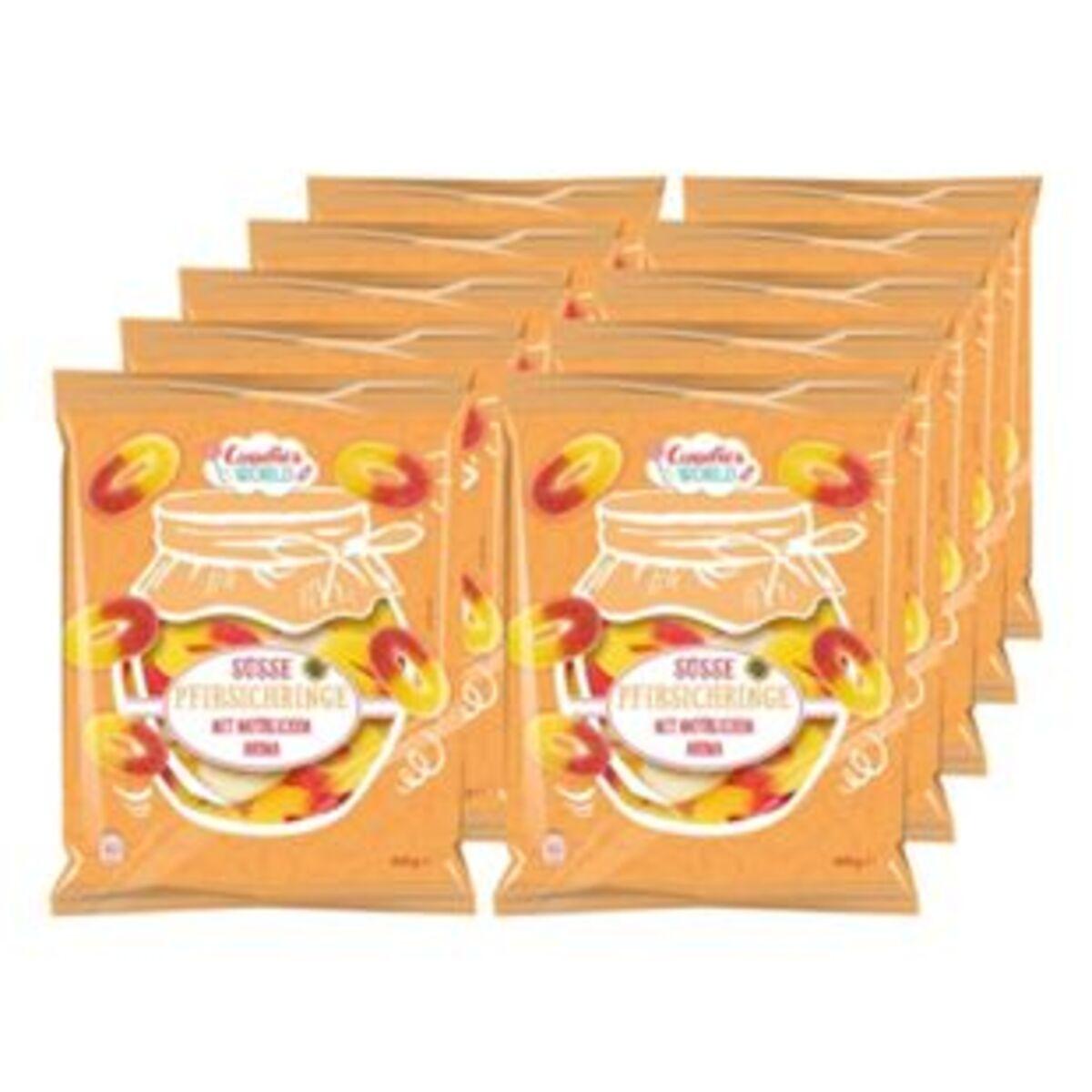 Bild 2 von Candies World süsse Pfirsichringe 400 g, 10er Pack