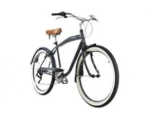 KS Cycling Beachcruiser Herrenfahrrad Cruizer 26 Zoll grau