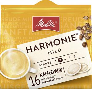 Melitta Kaffeepads Harmonie Mild 16ST 112G