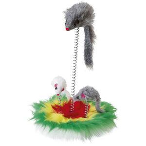 Katzenspielzeug - Mouse Swing - Fellmäuse auf Federn