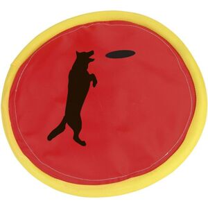 Hundespielzeug - Frisbee aus Nylon - rot/gelb