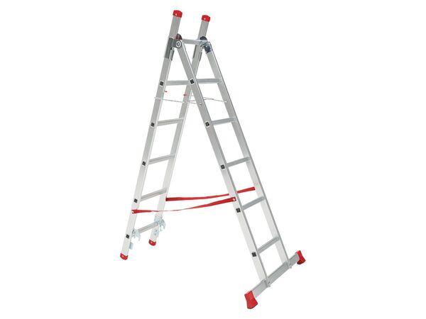 PARKSIDE® Multifunktionsleiter, 3 m Arbeitshöhe, 150 kg Belastbarkeit, aus Voll-Aluminium