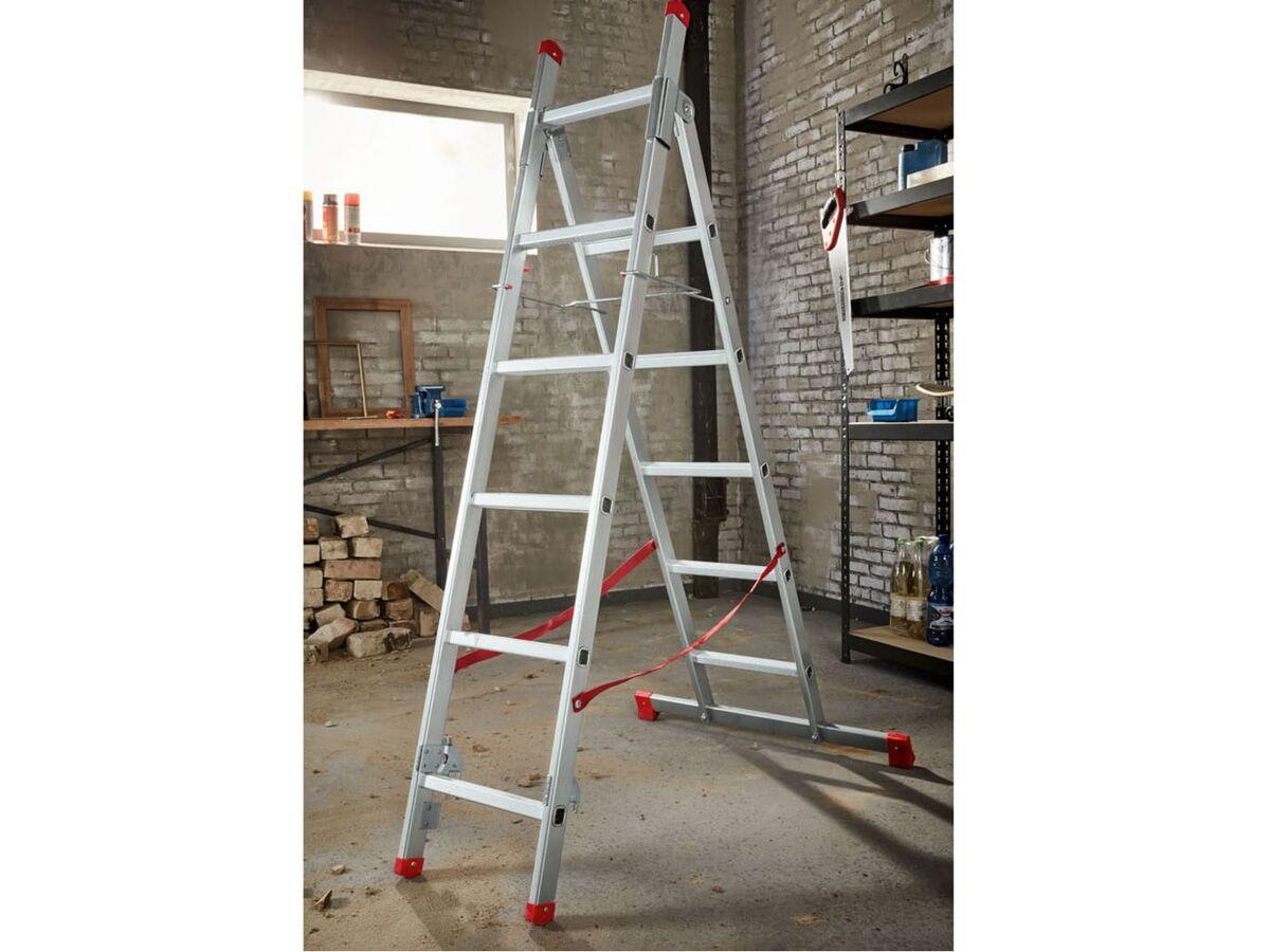 Bild 2 von PARKSIDE® Multifunktionsleiter, 3 m Arbeitshöhe, 150 kg Belastbarkeit, aus Voll-Aluminium