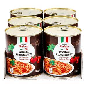 Mondo Italiano Spaghetti in Tomatensauce 800 g, 6er Pack
