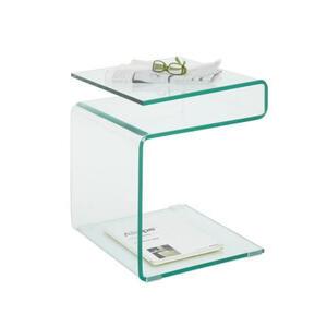 Xora Beistelltisch quadratisch transparent  , Bora , Glas , 40x48x40 cm , klar , 007326015701