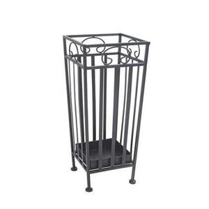XXXLutz Schirmständer metall schwarz  , Hanne , 20x46x20 cm , Tropfschale , 001931049002