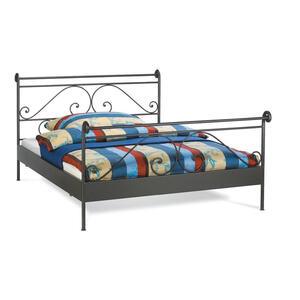 Hasena Bett 160/200 cm  , Romantic , Schwarz , Metall , 160x200 cm , lackiert , 001972007503