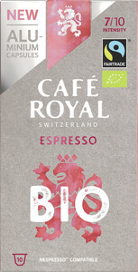 Cafe Royal Bio Espresso Nespresso kompatible Kapseln Fairtrade 10x 5 g