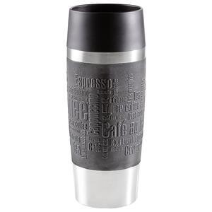Emsa Isolierbecher  , 513361 , Schwarz , Metall, Kunststoff , 0,36 L , 100% dicht, abnehmbarer Deckel , 0032620041