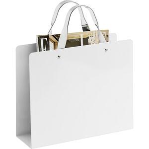 Boxxx Zeitungsständer metall weiß, chromfarben  , Cloe , 30x25x35.3 cm , verchromt, lackiert , Tragegriffe , 000640008501