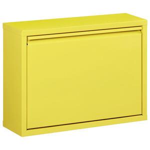 Carryhome Schuhkipper lackiert gelb  , Max , Metall , 50x37x15 cm , lackiert , Beimöbel erhältlich , 002536005908