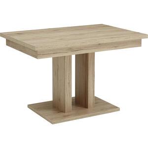Cantus Esstisch rechteckig eichefarben, sandfarben  , Santorin , Holzwerkstoff , 80x77x120(160) cm , Nachbildung , ausziehbar, in verschiedenen Größen erhältlich , 000675009402