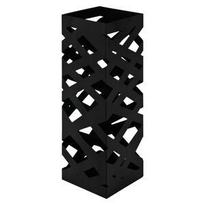 XXXLutz Schirmständer metall schwarz  , POP 3 , 16x48x16 cm , lackiert , Tropfschale , 001931015602