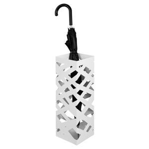 XXXLutz Schirmständer metall weiß  , POP 3 , 16x48x16 cm , lackiert , Tropfschale , 001931015601