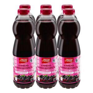 Fruchtstern schwarzer Johannisbeer-Nektar 1 Liter, 6er Pack