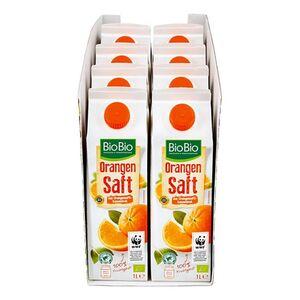 BioBio Orangensaft 1 Liter, 8er Pack
