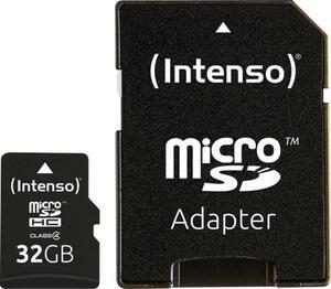 Intenso 32GB Micro SDHC-Card microSDHC-Karte 32GB Class 4 inkl. SD-Adapter