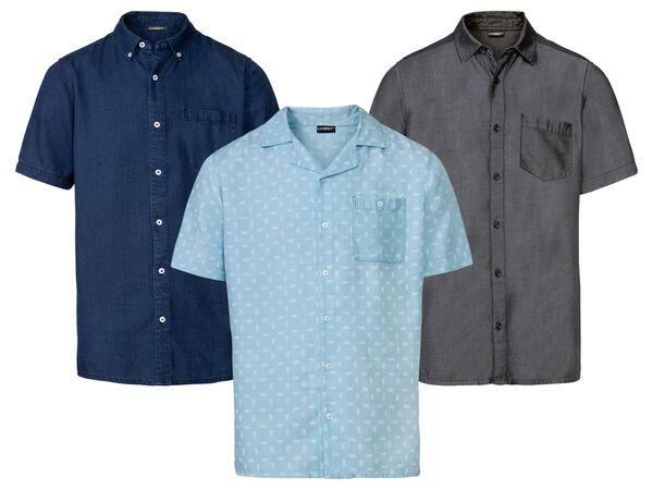 LIVERGY® Hemd Herren, kurzarm, leicht taillierter Schnitt, aufgesetzte Brusttasche