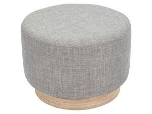 LIVARNO LIVING® Sitzhocker »Scandi«, Sockel aus Holz, Struktur-Stoffbezug, 110 kg Belastbarkeit