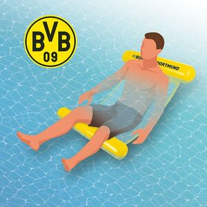 Borussia Dortmund Wasserhängematte mit Tragefunktion 119cm gelb