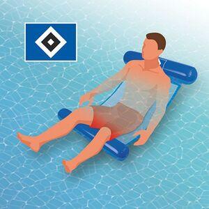 Hamburger SV Wasserhängematte mit Tragefunktion 119cm blau