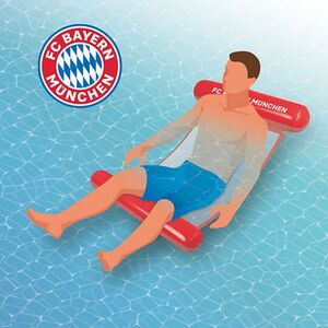 FC Bayern München Wasserhängematte mit Tragefunktion 119cm rot