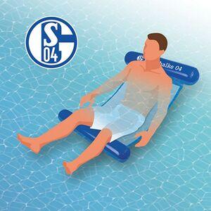 FC Schalke 04 Wasserhängematte mit Tragefunktion 119cm blau