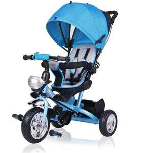 Deuba Dreirad mit Sonnendach Kinderdreirad in blau
