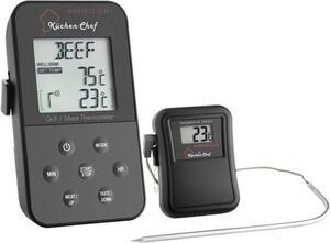 TFA Dostmann 14.1504 Grill-Thermometer Kabelsensor, Alarm, mit Timer, Überwachung der Kerntemperatu
