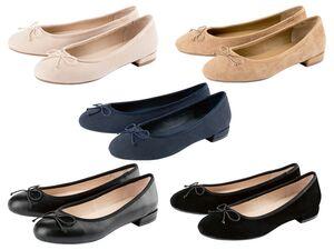 ESMARA® Ballerina Damen, gepolsterte Lederdecksohle, deutsche Schuhleisten