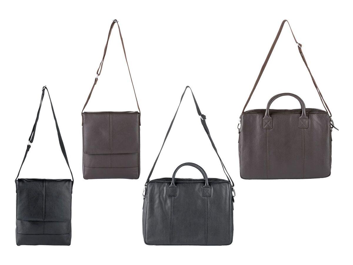 Bild 1 von LIVERGY® Herren Leder Laptoptasche / Messengerbag, mit verstellbarem Schultergurt